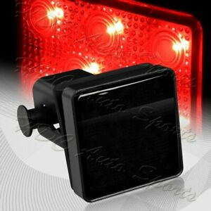 """2"""" Smoke Lens 12-LED Trailer Truck Hitch Towing Receiver Cover Brake Light Lamp"""