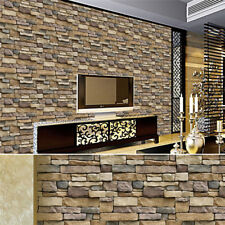 3D Wall Paper Brick Stone Self-adhesive Wall Sticker Panels Home Decor Art DIY