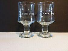 (2) IRISH COFFEE STEM GLASSES BARWARE 8 oz