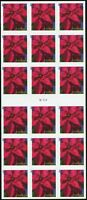 Holiday Poinsettia ATM Booklet Pane of 18 Forever Postage Stamps Scott 4821a