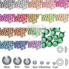 Approx 1000 Demi Perles Strass Facette Acrylique Crisatl Ronde SS4-SS46 Nail Art