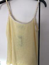 New Look Crochet Daisy Trim Cami Vest Top, Yellow, Size 10, BNWT