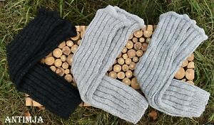 Beinstulpen Strick Wolle Legwarmers Hippie Woll Stulpen Strickstulpen Wintermode