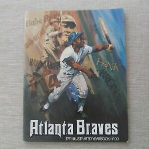 1971 ATLANTA BRAVES OFFICIAL YEARBOOK HANK AARON & BABE RUTH COVER EX CONDITION