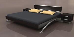 Kopfteil für Wasserbetten/Betten/Betthaupt in der Dekor Farbe Wenge
