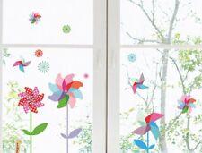 Fenster Sticker Windmühlen Fensterbild Static haftend Fensterfolie Kinderzimmer