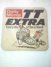 Vintage DAILY MIRROR  -  Isle of Man TT  EXTRA  Beermat / Coaster