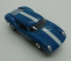 Aurora T-Jet Thunderjet Lola GT blue w/stripes No. 1378 HO Scale Slot Car