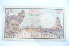 RARE  BILLET 500 FRS  DJIBOUTI  - C.1  - TTB - TRÉSOR PUBLIC  !