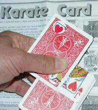 Karate Card -- weird, visual zig-zag card effect -- for red Bicycle         TMGS