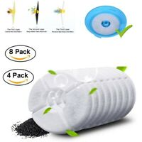8pcs Activated Carbon Charcoal Filter Replacement for Pet Dog Cat Water Fountain