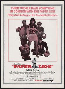 PAPER LION__Original 1968 Trade AD / ADVERT__Alan Alda_Joe Schmidt_Detroit Lions