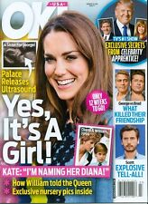 2015 OK! Magazine: Kate Middleton Pregnant with Girl/Donald Trump/Princess Diana