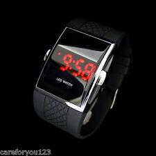 Fashion Men's LED Date Digital Watch Water Resistant Sport Black Wrist Watch