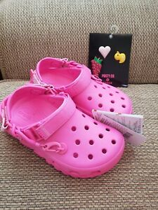 Post Malone x Crocs Duet Max 2 Pink Men 5 Women Size 7 with Jibbitz
