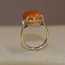 Antique Victorian Honey Amber & 14K Gold ring