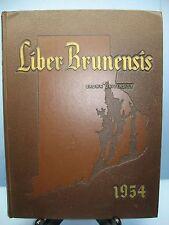 1954 Liber Brunensis Brown University, Providence, Rhode Island Yearbook