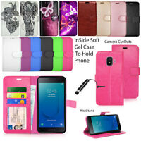 For Samsung Galaxy J2 Core Case Phone Wallet Leather  Flip Book Cover + Stylus