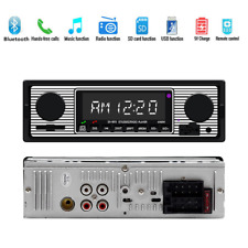 Single 1 Din Car Stereo BT MP3 Player FM Radio AUX/SD/U Disk In Dash w/Remote