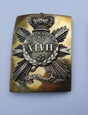 47th (The  Lancashire) Regiment of Foot Victorian Officer's Shoulder Belt Plate