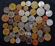 50 Monedas Mundiales Diferentes Europa Asia Norteamérica y Sudamérica no hay monedas británicas