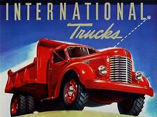 ADVERT TRANSPORT TRUCK LORRY RED SHINY USA ART POSTER PRINT LV276
