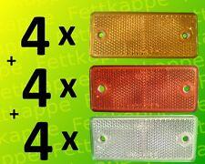 je 4 Rückstrahler gelb rot weiß zum Schrauben 90x40 mm