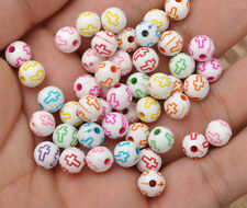150PCS cross Mixed color bead Spacer Charm beads to suit bracelet chain 8mm