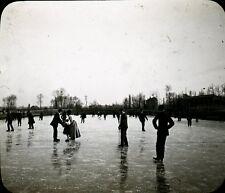RENNES 1908 - Patineurs au Vélodrome Bretagne Positif Verre 10 x 8 - 30