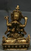 Tibet Buddhist Copper Bronze Guhyasamaja In Yab-Yum Sex Happy Buddha Statue