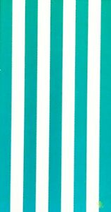 "RALPH LAUREN WHITE,TEAL GREEN STRIPED,YELLOW LOGO,COTTON BEACH TOWEL 35""x 66"""