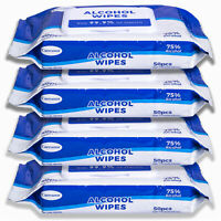 Caresour Advanced 75% Alcohol Sanitizer Wipes, 4 Packs of 50 (200 Wipes)