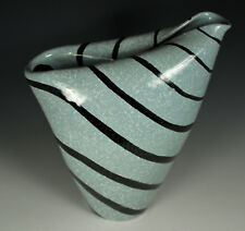 MID CENTURY MODERN Vase SIGNED Numbered ITALY Neutral SPATTER Glaze RAYMOR ?