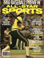 1980 Dell All-Star Sports Baseball magazine, Willie Stargell, Pittsburgh Pirates