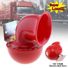 12 V 115dB Red Loud Car Truck Suv Electric Raging Bull Horn Kit Air Horn 175Hz