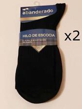 2 Pares Calcetines socks Abanderado HILO DE ESCOCIA 100% algodón. 39/40 MARRÓN