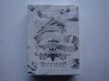 INVISIBLE ARCANE WHITE BICYCLE DECK PLAYING CARDS GAFF ELLUSIONIST MAGIC TRICKS