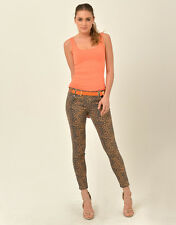 Womens Supre Size 3XS/4 Mid Waist Skinny Ankle Jeans - LEOPARD PRINT - BNWT