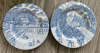 American Atelier At Home Blue Toile 5217 Salad Plates - Set Of 2 - Excellent