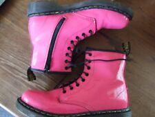 Dr Marten Pink patent boots size 3  (Sep17)