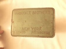{ Vintage Tin Arbuckle Coffee Tin Arbuckle Brothers New York, Chicago,Pittsburgh