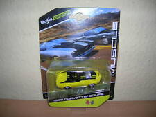 Maisto Design Muscle 1969 Corvette Coupé jaune jaune, 1:64