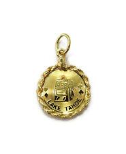 14K Yellow Gold Slot Machine Lake Tahoe Casino Charm Necklace Pendant ~1.5g
