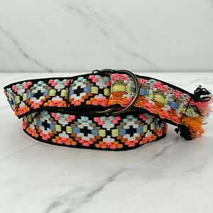 Southwestern Colorful Woven D Ring Belt Size 12 Kids Youth