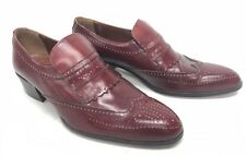 Volpe Imperials Red Burgundy Cordovan Loafers Shoes 7403 Men's size 8.5