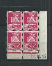 ALGERIE  N°  180   BLOC  DE  4 COIN  DATE   11/12/42   CONSTANTINE   NEUFS **