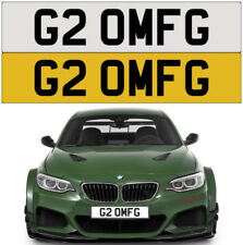G2 OMFG OMG OH MY GOD RUDE CHEEKY NAUGHTY FAST BEAST AMG PRIVATE NUMBER PLATE