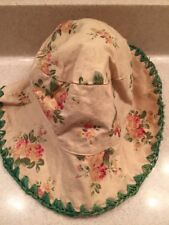 Girls Sunhat Vintage Look Floral Multicolored EUC