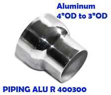 "3"" OD to 4"" OD DIY Aluminum Universal Reducer 3.9"" Length"
