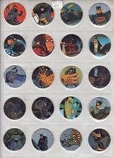 BATMAN 1995 WPF WADDINGTONS DC COMICS COMPLETE SET OF POGS B1 TO B64